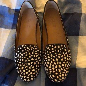 J.crew polka dot loafers - like new